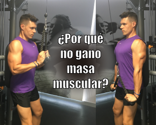 ¿Por qué no gano masa muscular?